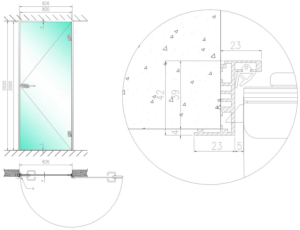 Коробка для стеклянной двери своими руками 26